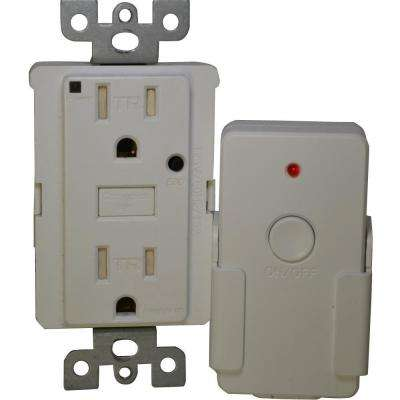 Energy Saving 15-Amp Duplex Outlet with Remote - White