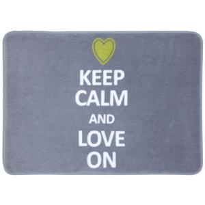 Mohawk Home Keep Calm and Love on Gray 17 inch x 24 inch Bath Rug by Mohawk Home