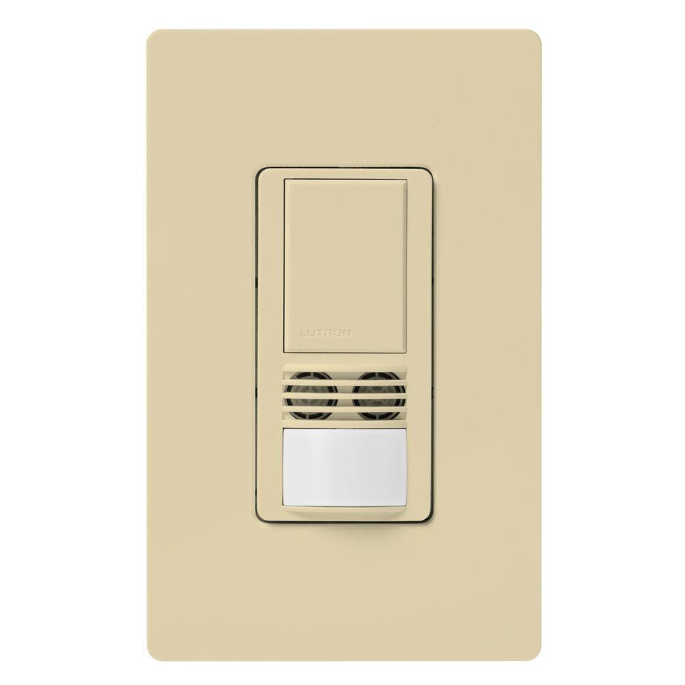 Maestro Dual-Tech Motion Sensor switch, 6-Amp, Single-Pole, Ivory