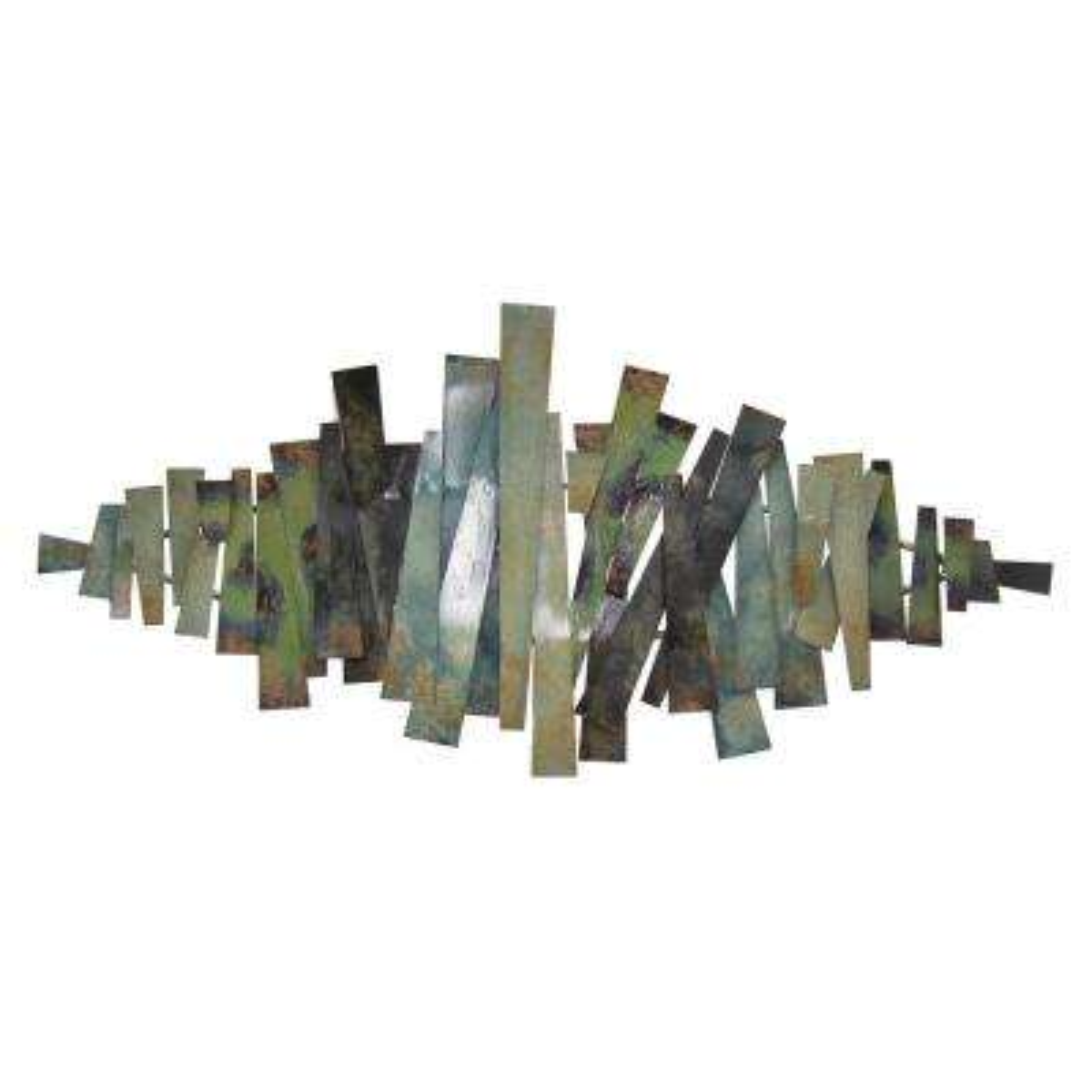 """Wall Decor in Green Metal - 51"""" H"""