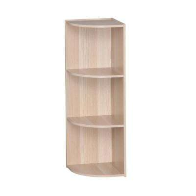 Light Brown 3-Tier Corner Curved Shelf Organizer