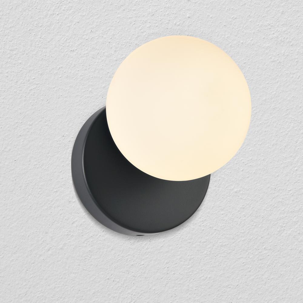Capri 5 in. Black Integrated LED Sconce