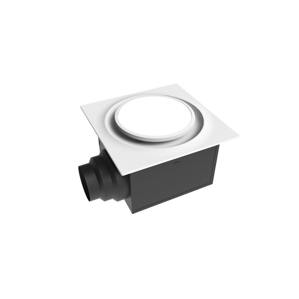 Aero Pure Low Profile 110 CFM 0.9 Sones Quiet Ceiling Bathroom Ventilation Fan With LED Light
