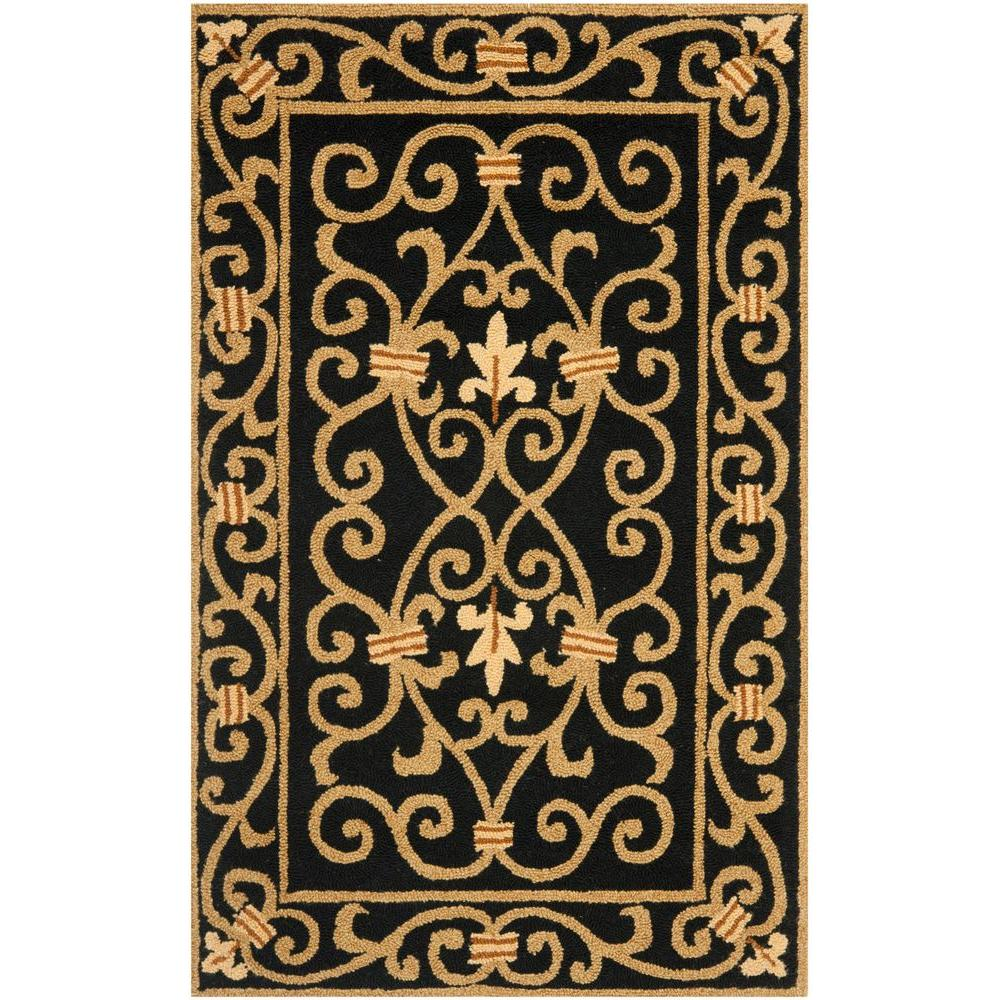 Chelsea Black 2 ft. 6 in. x 4 ft. Area Rug