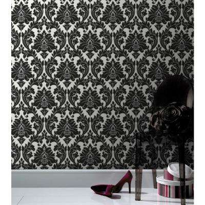 Majestic Black Removable Wallpaper