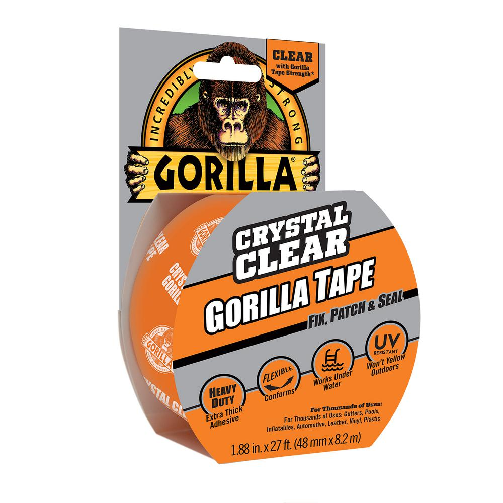 Gorilla 1 88 In X 9 Yds Crystal Clear Tape 6 Pack