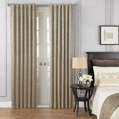 Yvon 52 in. W x 95 in. L Blackout Window Curtain Panel in Champagne