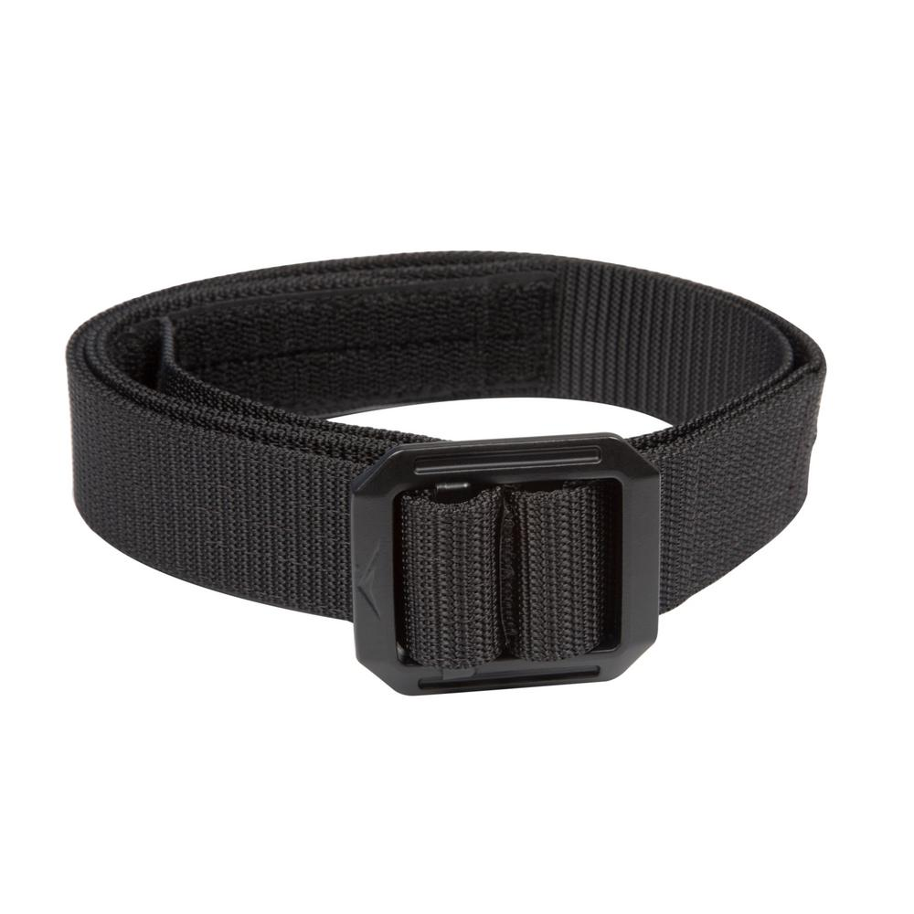 "Tactical Men/'s Adjustable Nylon Duty Belt Black 2/"" wide Waist Size up to 36/"""