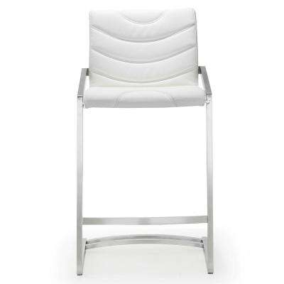 26 in. Rio White Steel Counter Stool (Set of 2)