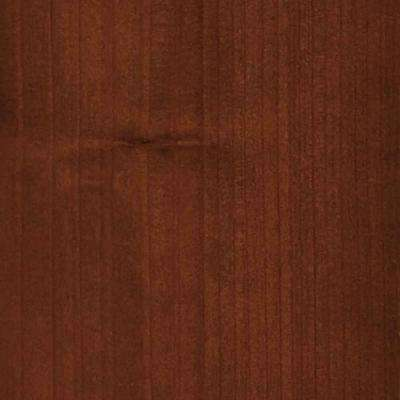 4 in. x 3 in. Wood Garage Door Sample in Redwood with Butternut 072 Stain