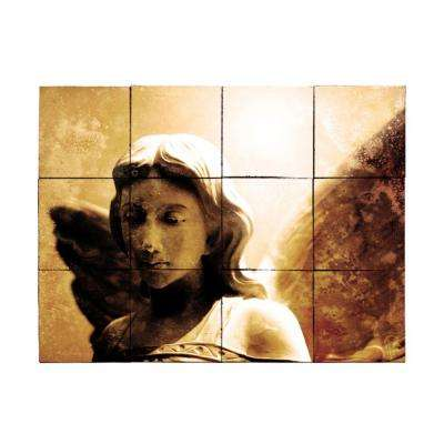 Angel1 24 in. x 18 in. Tumbled Marble Tiles (3 sq. ft. /case)