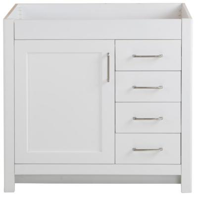 Westcourt 36 in. W x 21 in. D x 34 in. H Bath Vanity Cabinet Only in White