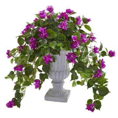 Indoor Bougainvillea Artificial Plant in Decorative Urn