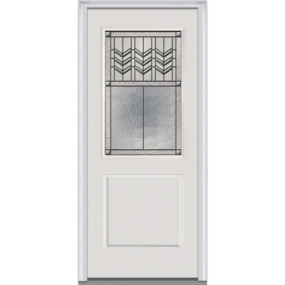 MMI Door 32 In. X 80 In. Prairie Bevel Right Hand 1/