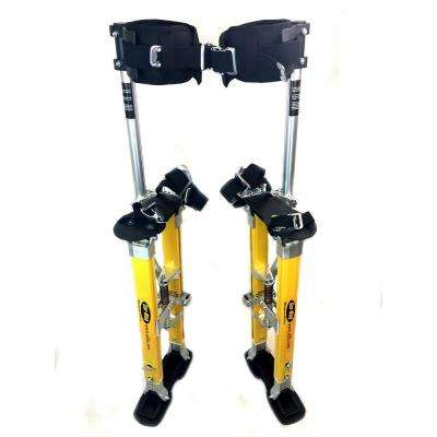 SurPro 18 in. to 30 in. Adjustable Height SP Quad Lock Single Support Legs Magnesium Drywall Stilts