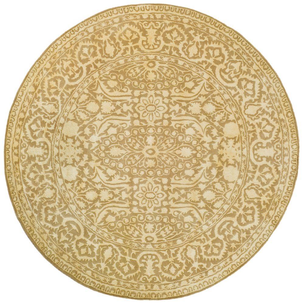 Safavieh Silk Road Ivory 6 ft. x 6 ft. Round Area Rug
