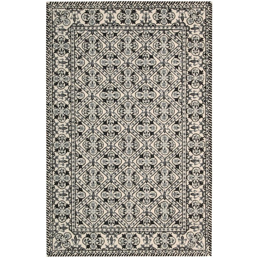 Overstock Area Rugs: Nourison Overstock Country Heritage Black/White 5 Ft. X 8