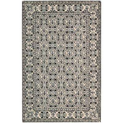 Country Heritage Black/White 5 ft. x 8 ft. Area Rug