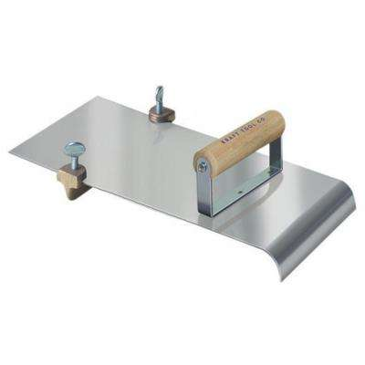 5 in. x 12 in. Stainless Steel Walking Edger/Groover with 3/4 in. R-Wood Handle