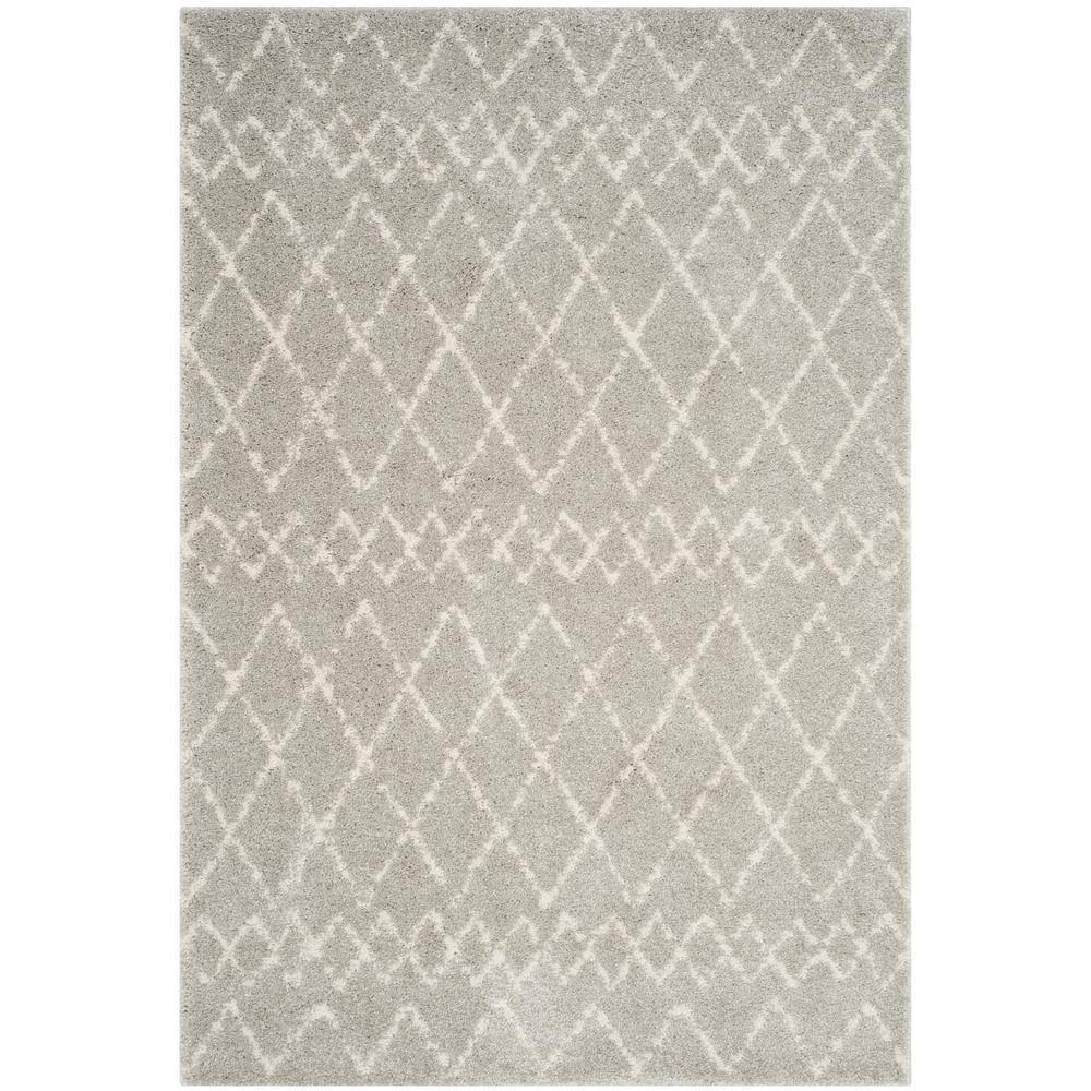 Safavieh Berber Shag Light Gray Cream 8 Ft X 10 Ft Area