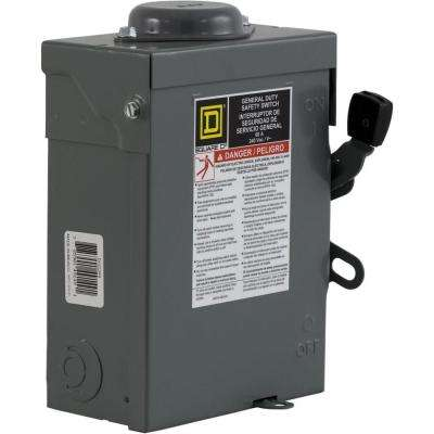60 Amp 240-Volt 2-Pole Non-Fuse Outdoor General Duty Safety Switch