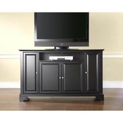 LaFayette 60 in. Black Wood TV Stand Fits TVs Up to 60 in. with Storage Doors
