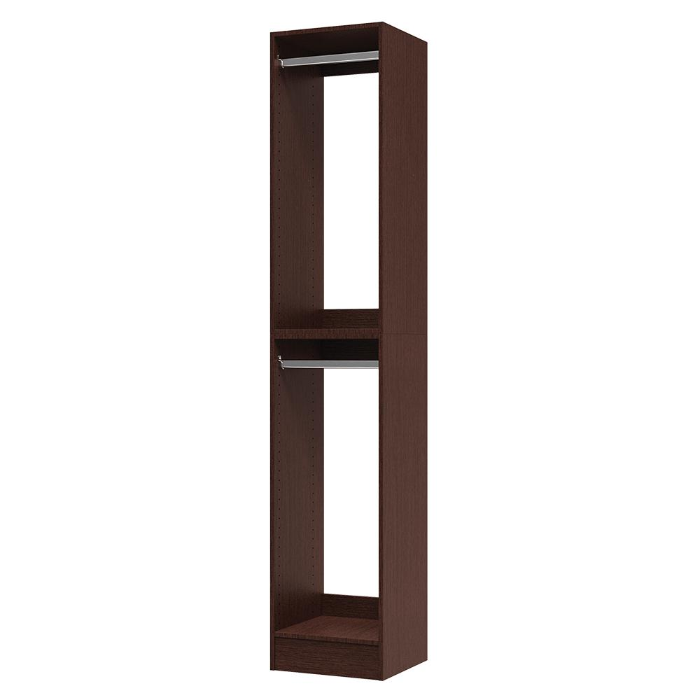 Modifi 15 in. D x 15 in. W x 84 in. H Utility Tower and Melamine Closet System Kit in Mocha