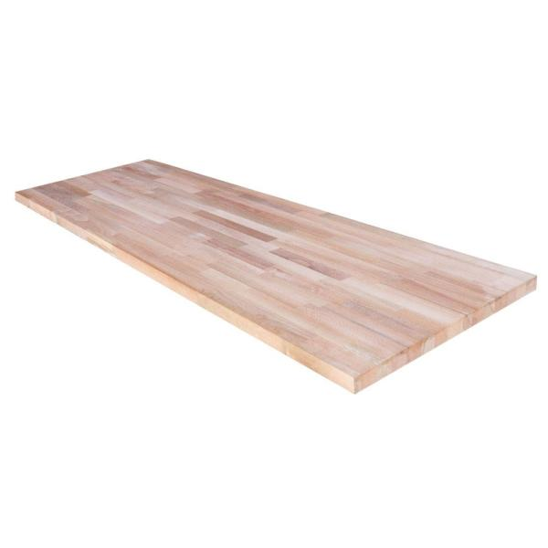Unfinished Beech 6 ft. L x 39 in. D x 1.5 in. T Butcher Block Island Countertop