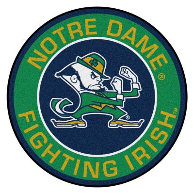 NCAA Notre Dame 27 in. Round Roundel Mat Area Rug