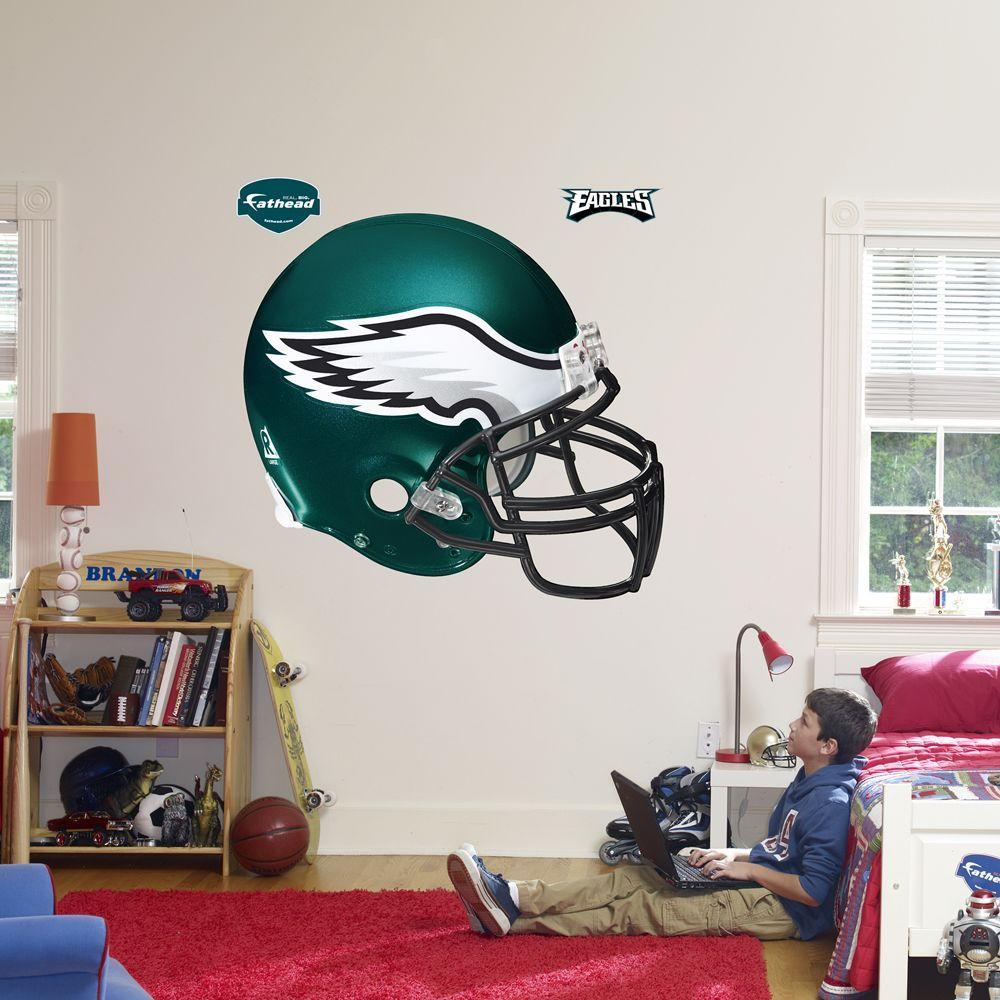 Fathead 57 in. x 51 in. Philadelphia Eagles Helmet Wall Decal