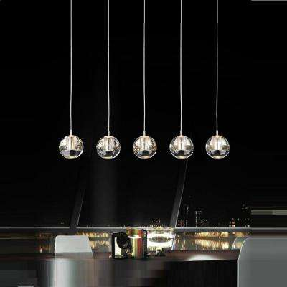 Perrier 5-Light Chrome Chandelier