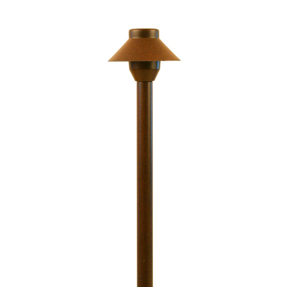 Mushroom Path Light Rust Finish Landscape Outdoor Garden Low Voltage Lighting