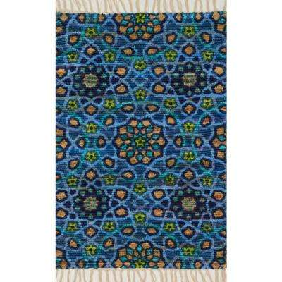 Aria Lifestyle Collection Blue 3 ft. 6 in. x 5 ft. 6 in. Area Rug