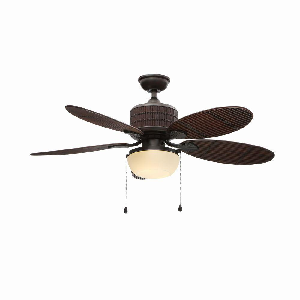Home Decorators Collection Tahiti Breeze 52 in. Indoor/Outdoor Natural Iron Ceiling Fan  with Light Kit