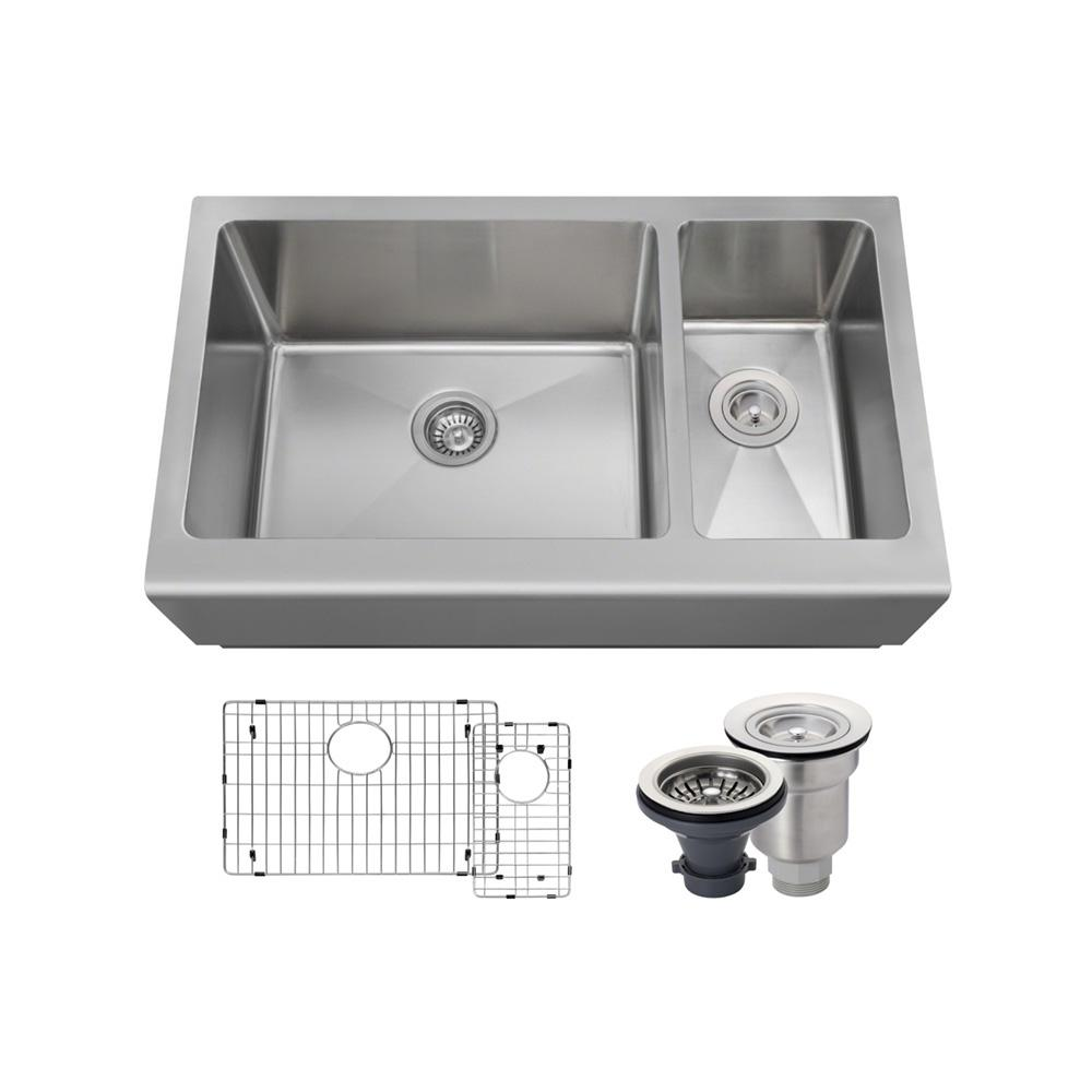 kitchen sinks direct mr direct all in one farmhouse apron front stainless steel 3004