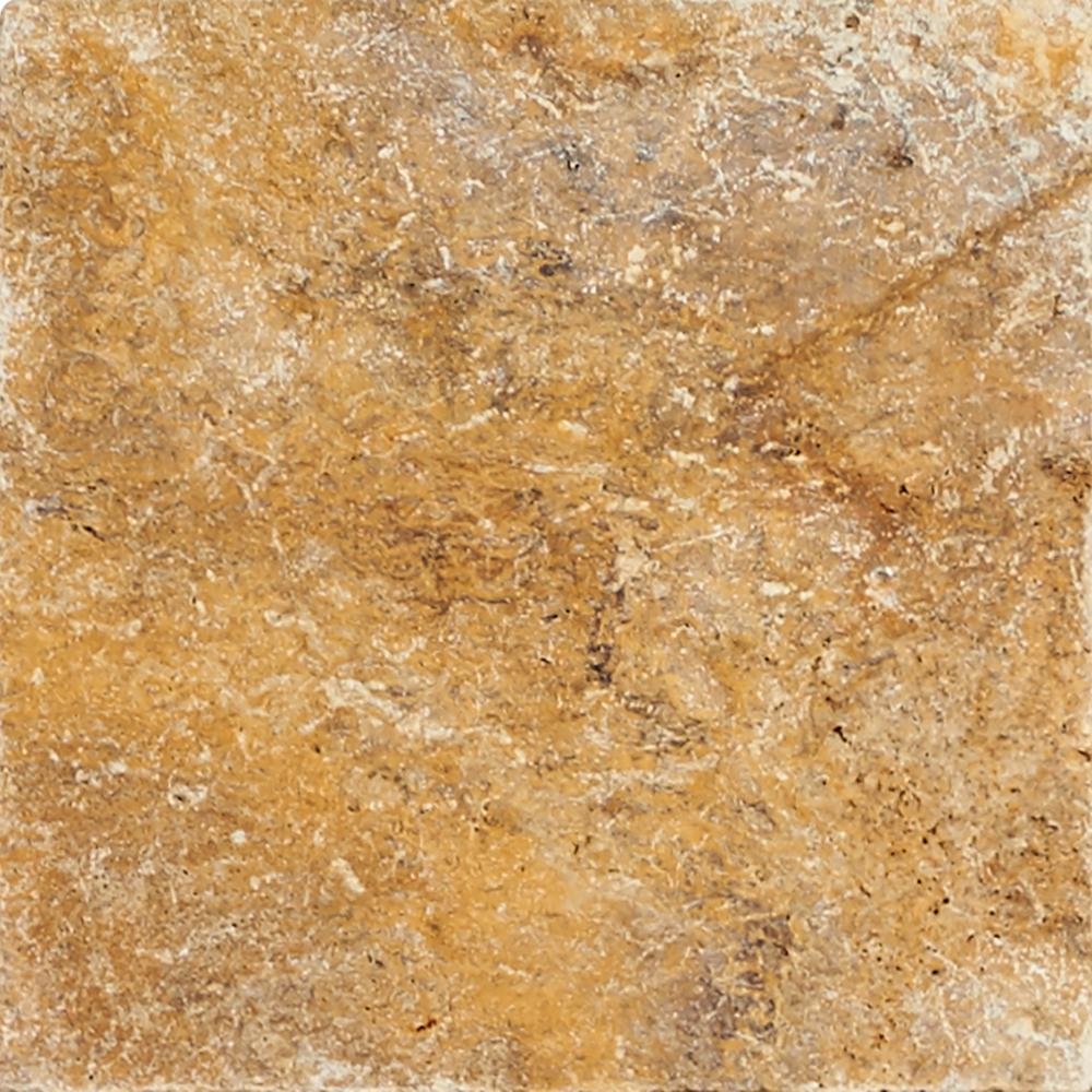 MSI Tuscany Scabas Pattern 16 sq. ft. Tumbled Travertine Paver Kit (10 Kits / 160 sq. ft. / Pallet)