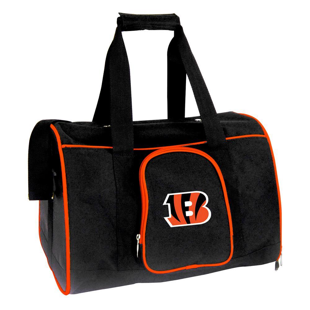 NFL Cincinnati Bengals Pet Carrier Premium 16 in. Bag in Orange