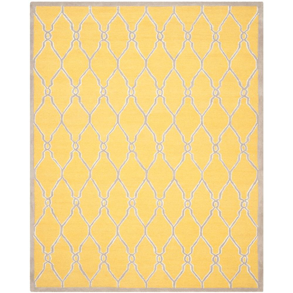 Cambridge Gold/Ivory 8 ft. x 10 ft. Area Rug