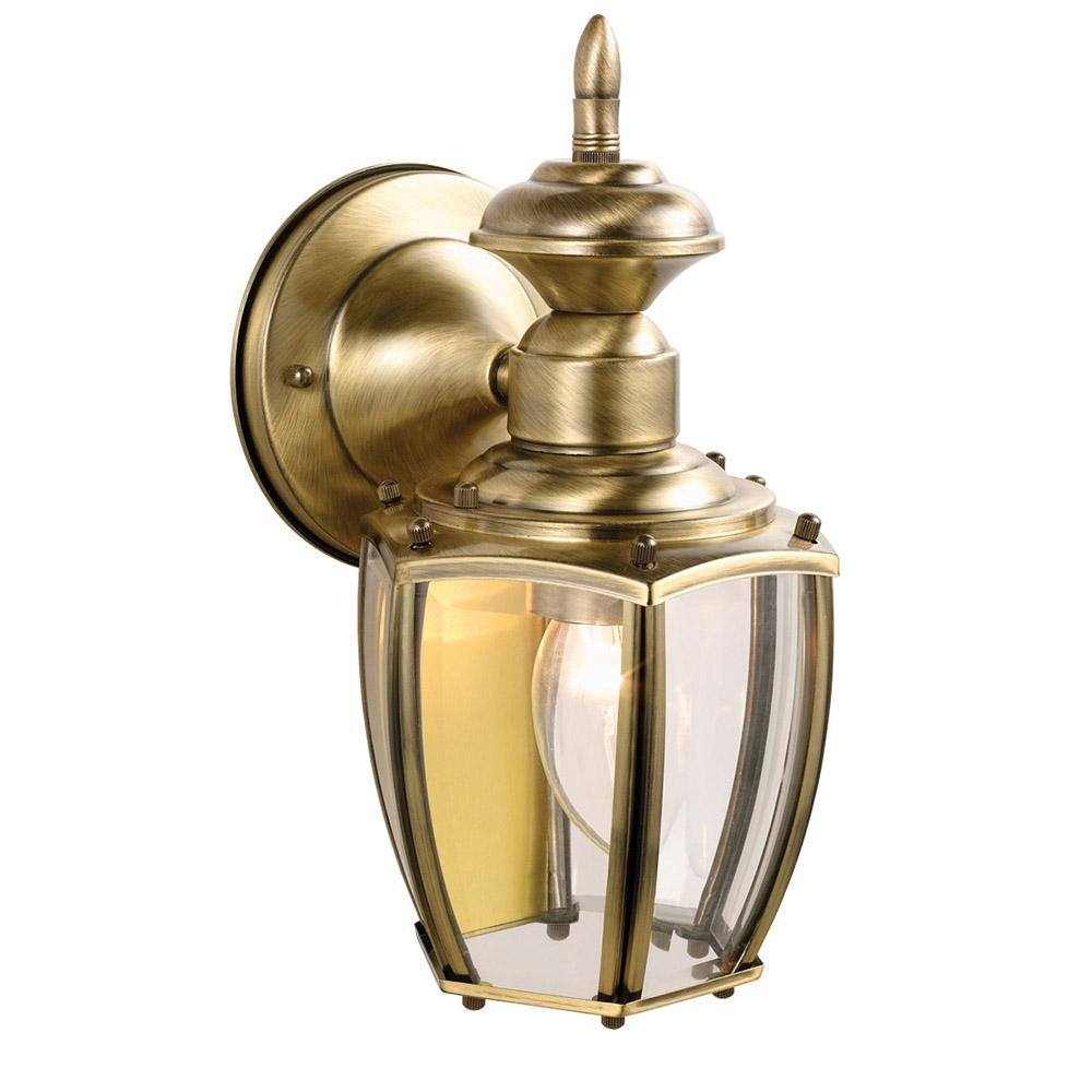 Design House Jackson Solid Antique Brass Outdoor Wall-Mount Downlight