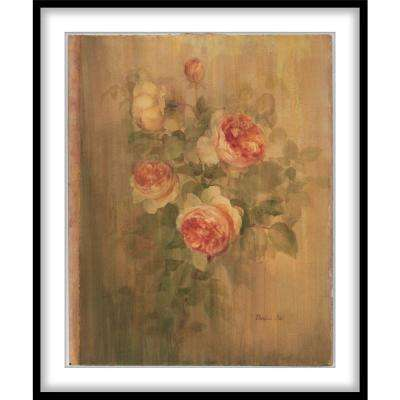 """9.75 in. x11.75 in. """"Vintage Roses on Green II""""Framed Wall Art"""
