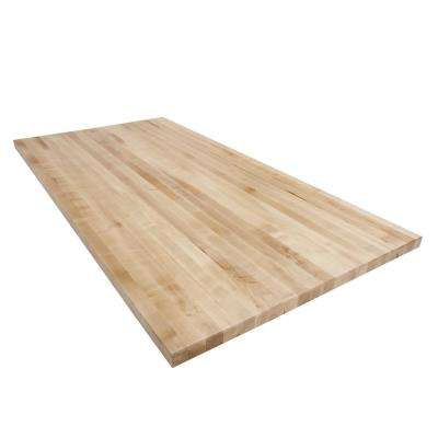 6 ft. L x 2 ft. 6 in. D x 1.75 in. T Butcher Block Countertop in Finished Maple
