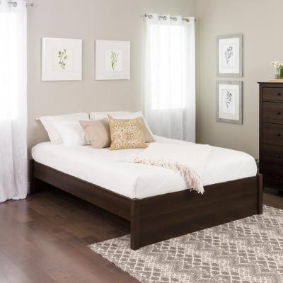 Select Espresso Queen 4-Post Platform Bed