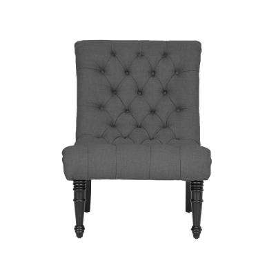 Caelie Gray Fabric Accent Chair