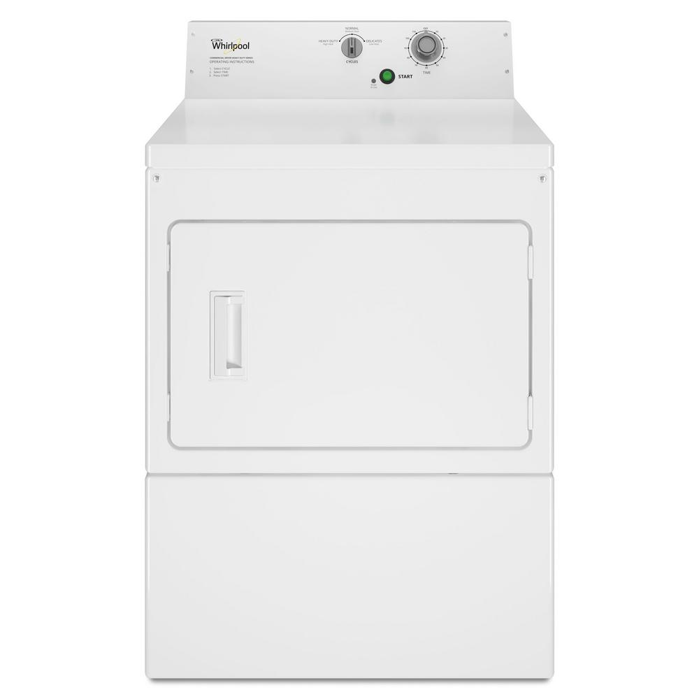 Whirlpool 7.4 cu. ft. Commercial Gas Dryer in White
