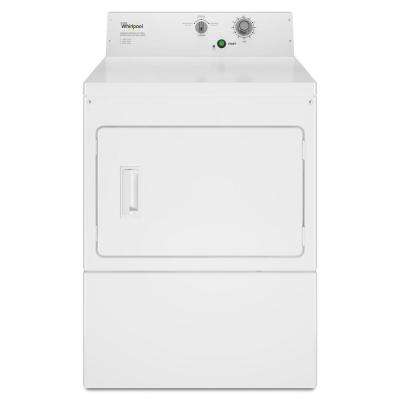 7.4 cu. ft. Commercial Gas Dryer in White