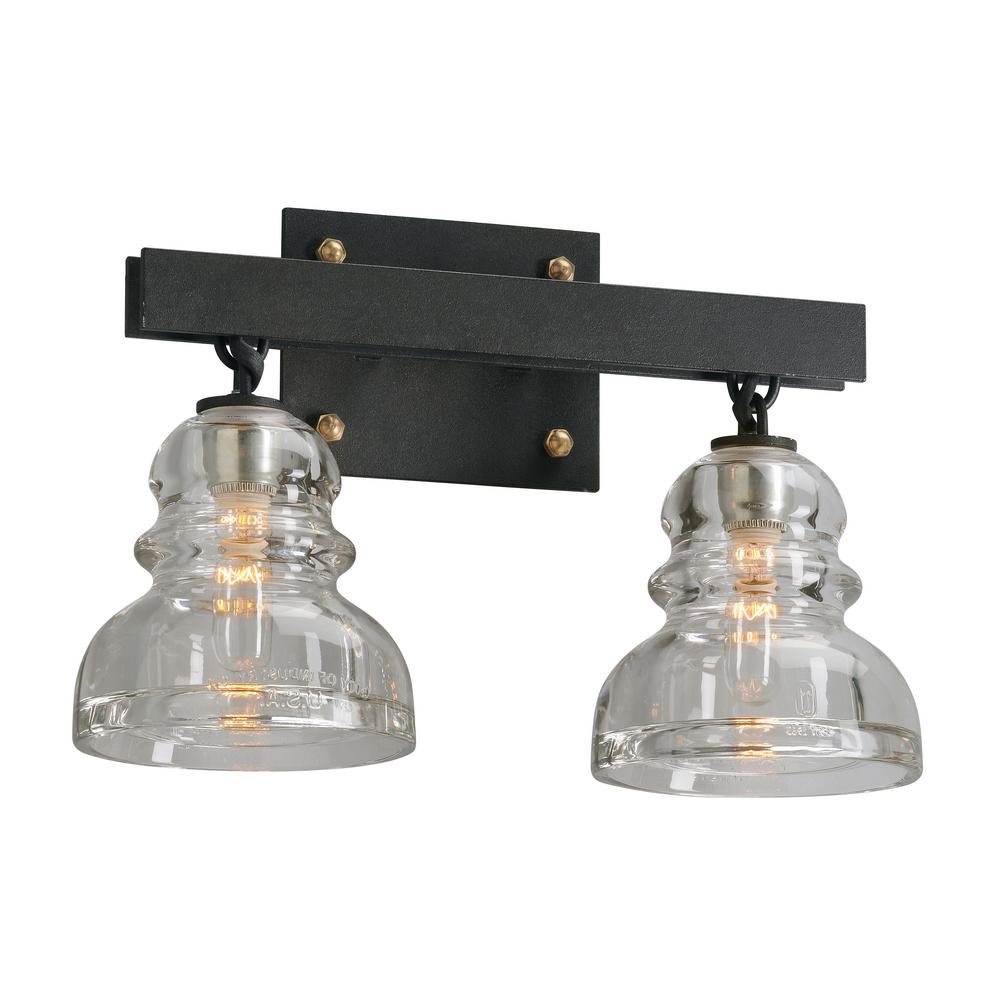 troy lighting menlo park 2 light deep bronze vanity light b3962