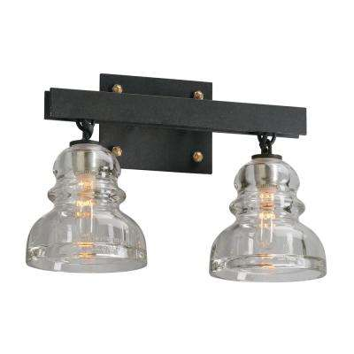 Menlo Park 2-Light Deep Bronze Vanity Light