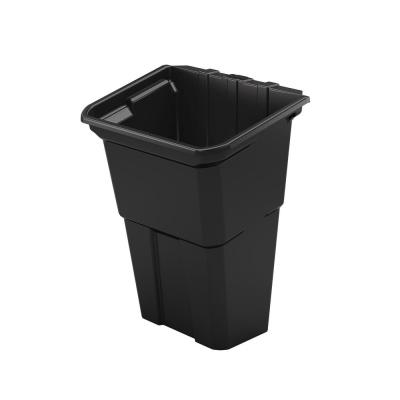 Plastic Waste Basket Service Cart Accessory (2 Pack)
