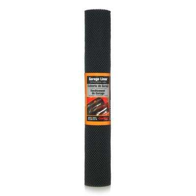 Industrial Premium Grip 22.5 in. x 86 in. Black Thick Grip Non-Adhesive Drawer and Shelf Liner (6 rolls)