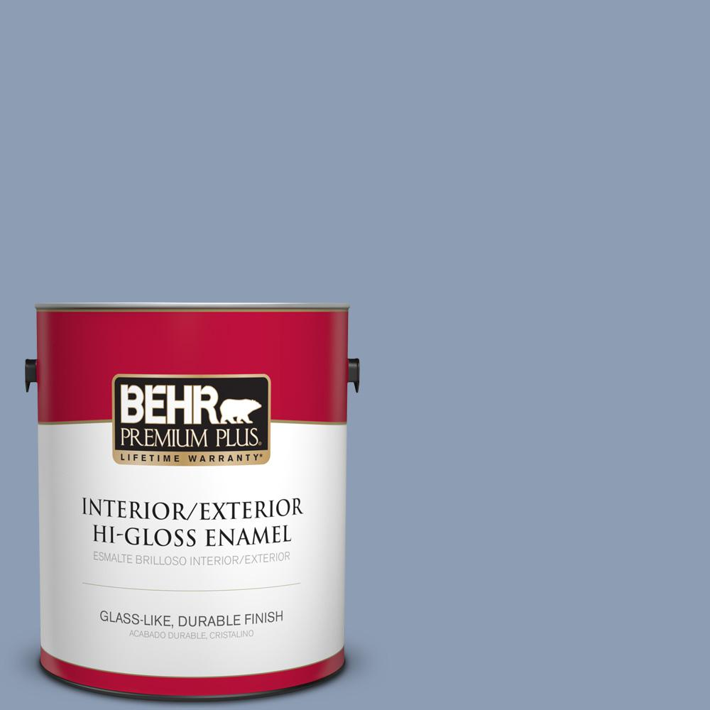 1 gal. #PPU15-10 China Silk Hi-Gloss Enamel Interior/Exterior Paint